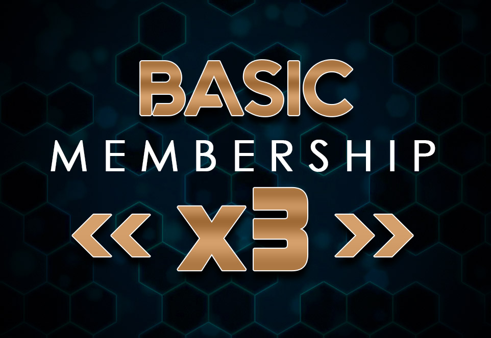 EDGE Basic Monthly Membership (3 Members)