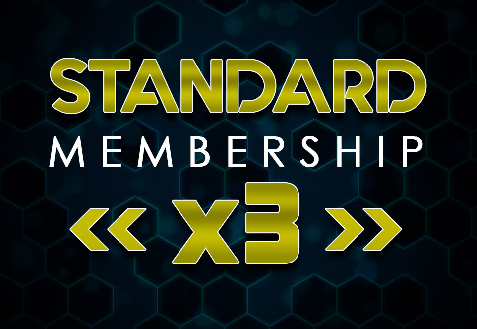 EDGE Standard Monthly Membership (3 Members)